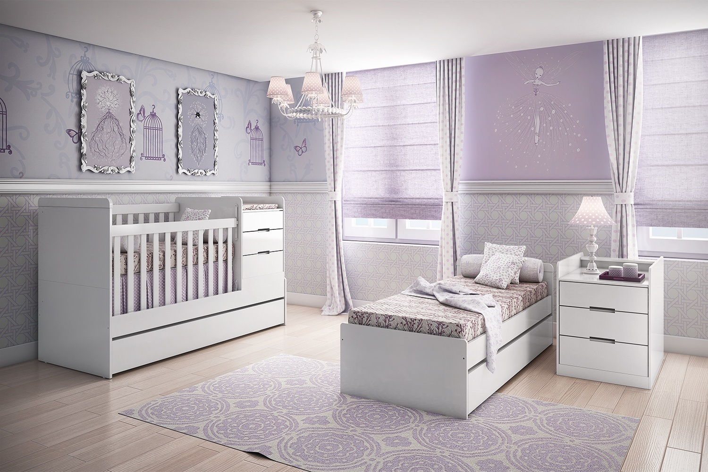 Quarto De Beb Com Cama Auxiliar Mais De 900 Quartos De Beb  ~ Moveis Quarto De Bebe Com Decorar Quarto Pequeno