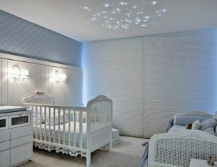 iluminação quarto bebê céu estrelado