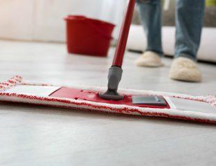 limpando o chão