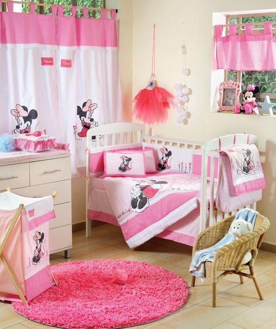 Mickey e Minnie na decoração do quarto de bebê - Mais de ...