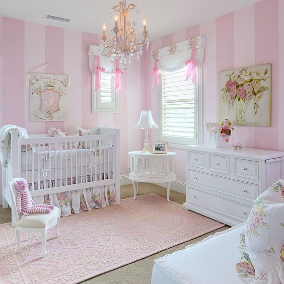 Quarto de bebê rosa Quarto para bebê ~ Quarto Rosa Forte