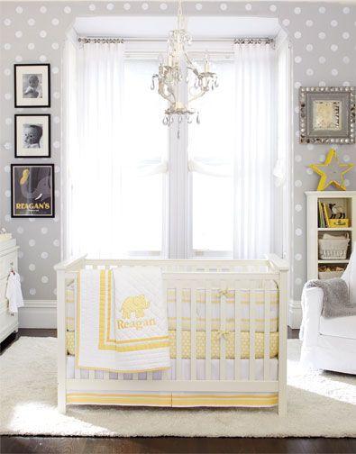 Quarto de bebê cinza, amarelo e branco Quarto para bebê ~ Quarto Rosa Amarelo