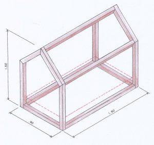 cama em forma de casinha.11