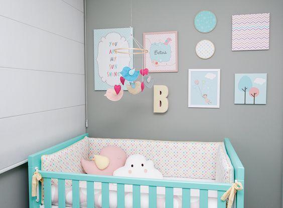 Candy Colors na decoraç u00e3o do quarto do beb u00ea Mais de 900 Quartos de Beb u00ea u3010Quarto para Beb u00ea u3011 # Decorar Quarto De Bebe Simples
