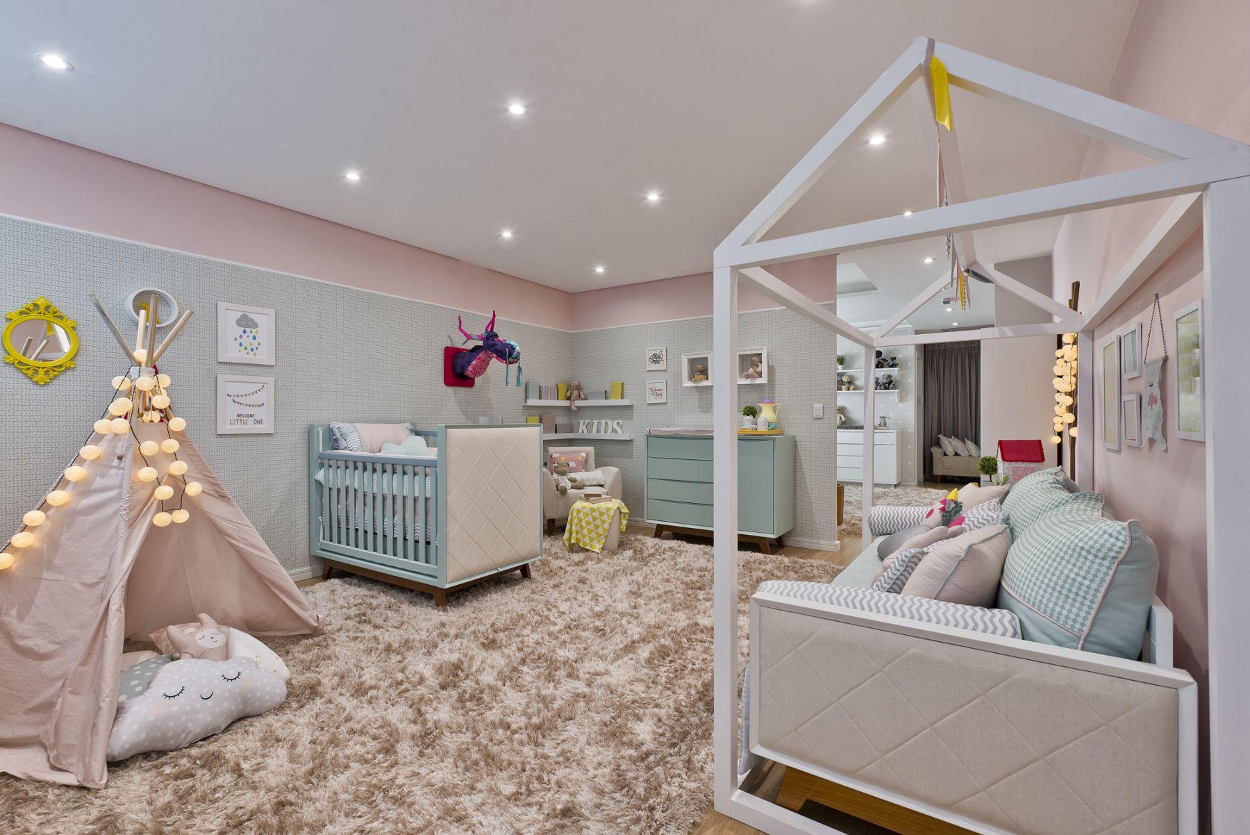 Candy Colors Na Decora O Do Quarto Do Beb Mais De 900 Quartos  ~ Decoração Quarto Infantil Masculino