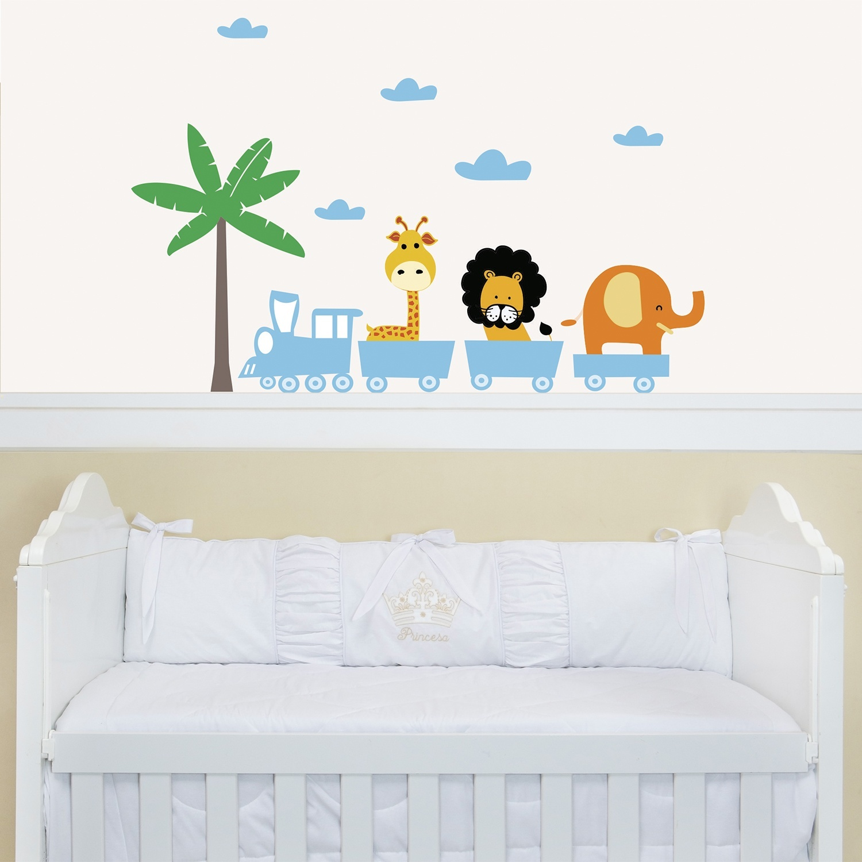 acessórios para quarto de bebê inspirados na temática floresta  Quarto para