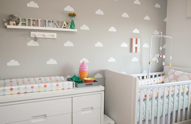 Artesanato Folclore Regiao Nordeste ~ Nuvens na decoraç u00e3o do quarto do beb u00ea Mais de 900 Quartos de Beb u00ea u3010Quarto para Beb u00ea u3011