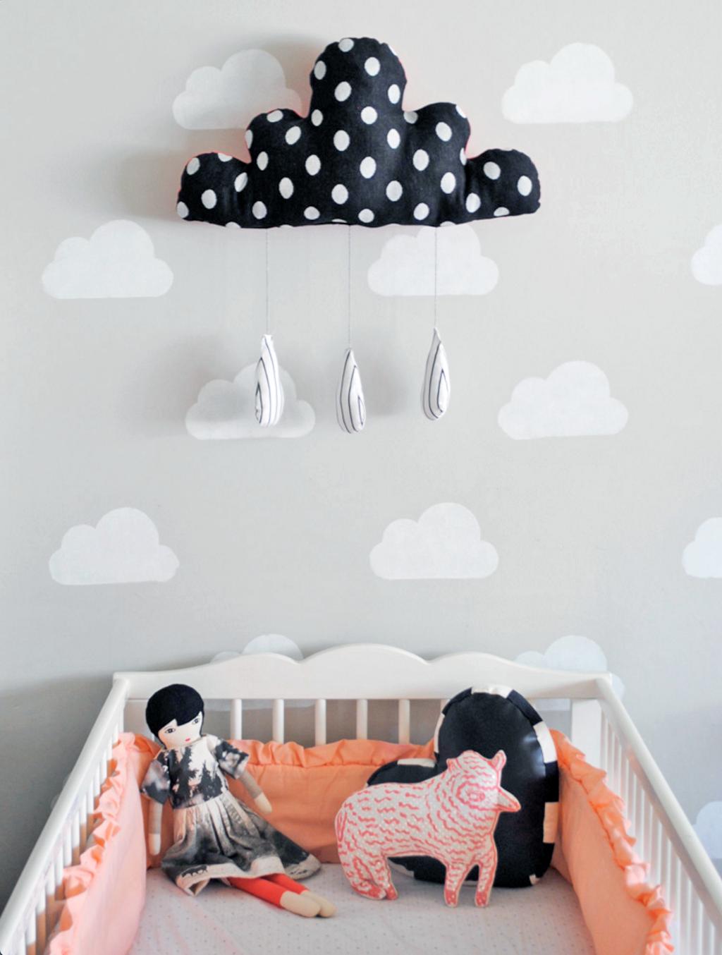 nuvem na decoracao do quarto do bebe.08