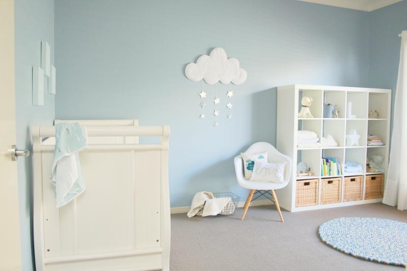 Nuvens na decoração do quarto do bebê Quarto para bebê