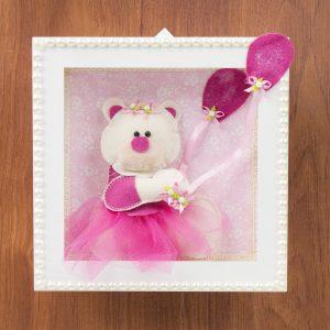 Nicho decorativo ursa balão - Grão de Gente (ref.: 62403)
