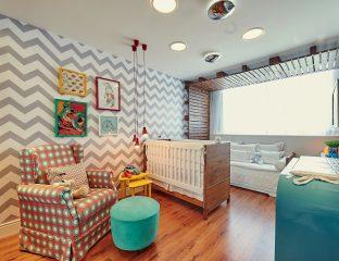 quarto de bebê contemporâneo