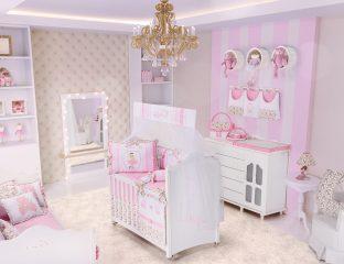 quarto de bebê com a temática bailarina