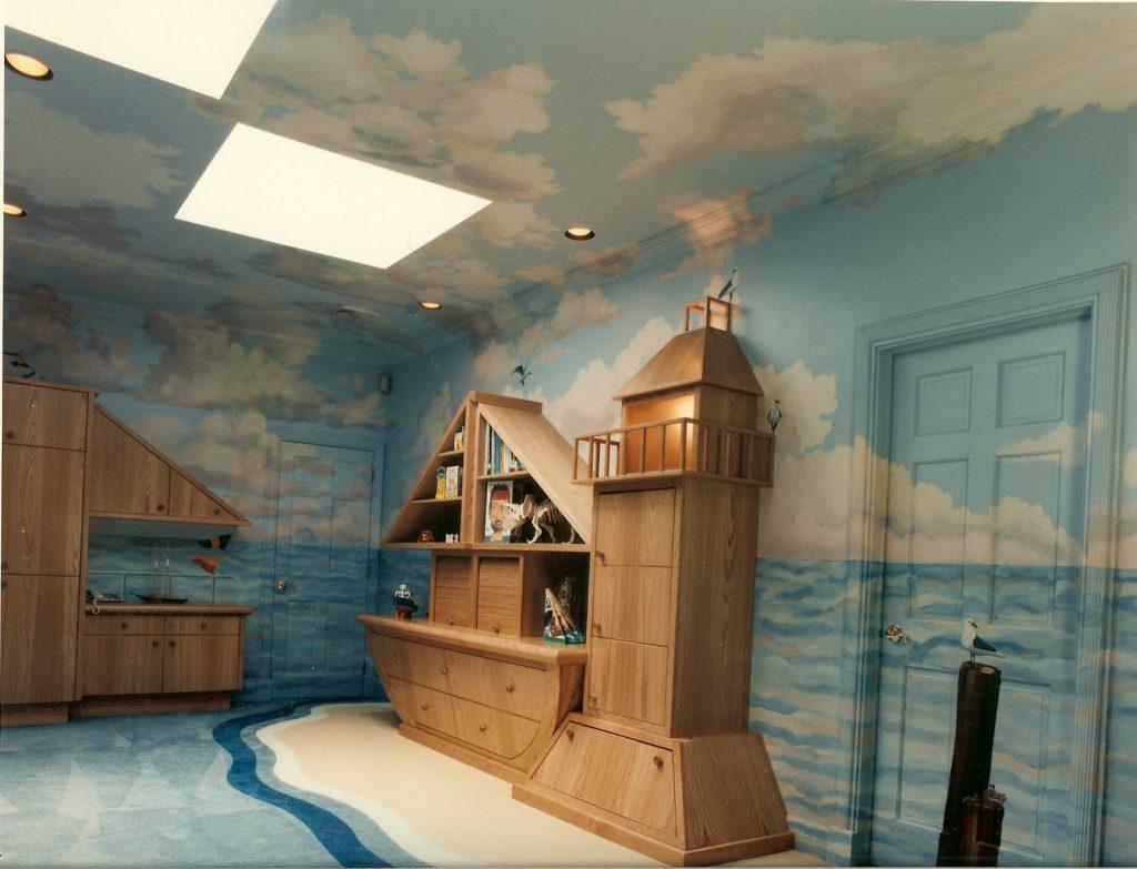 quarto de bebê com temática fundo do mar