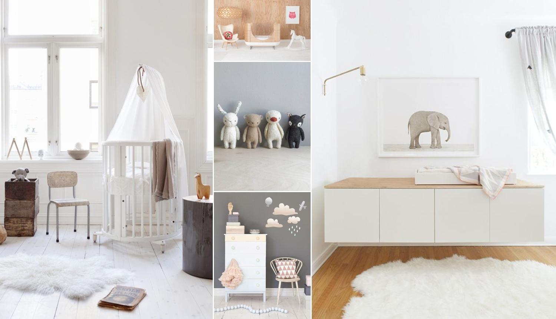 Estilo escandinavo no quarto de bebê