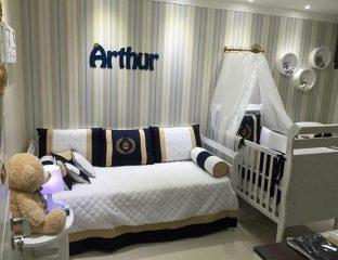 quarto de bebê com enxoval de príncipe