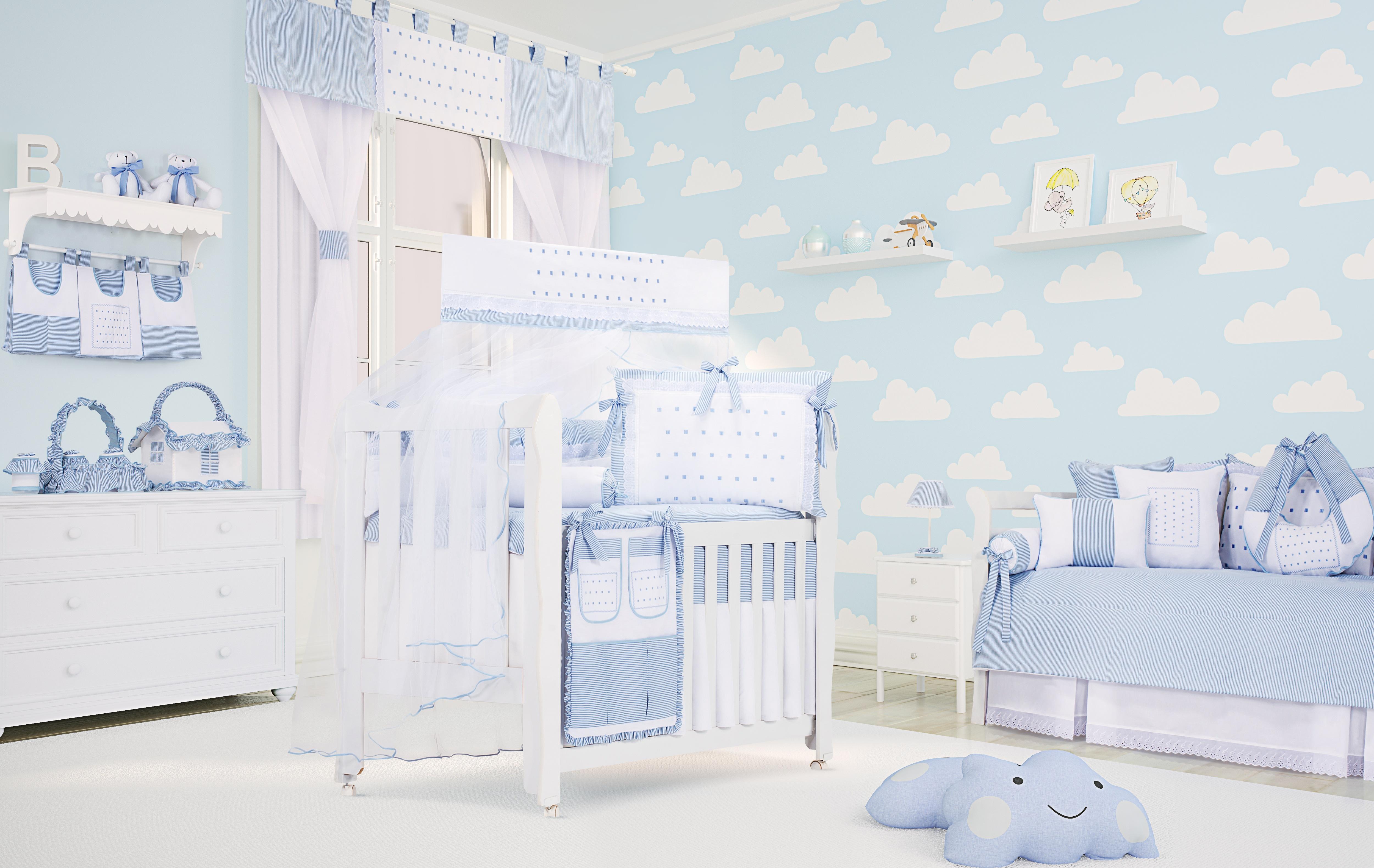 Tend Ncias De Decora O Para Quarto De Beb 2017 Mais De 900  ~ Quarto Azul Marinho E Branco E Montar O Quarto Do Bebe