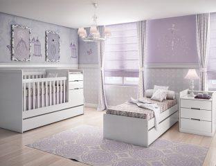 quarto roxo de bebê