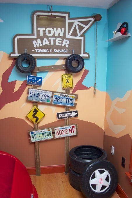 Decora o de carrinhos para quarto de meninos mais de for Cars 2 bedroom paint ideas
