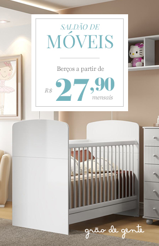 Saldão de móveis - Berços a partir de 27,90 mensais. Grão de Gente.