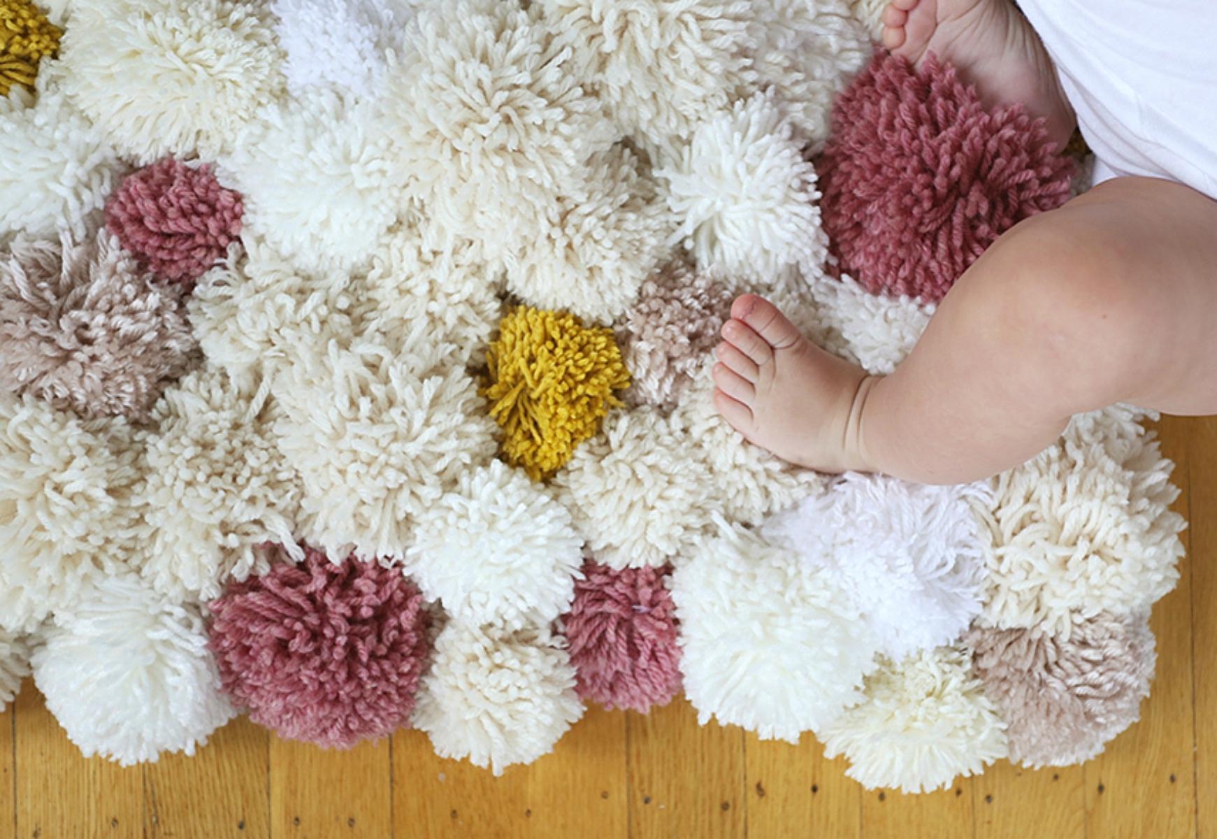 Diy Tapete De Pompom Para O Quarto Do Beb Mais De 900 Quartos