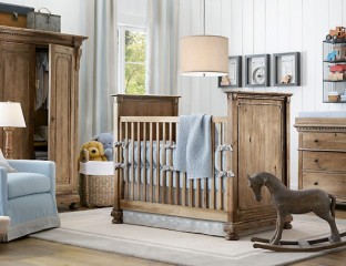 quarto de bebê rústico