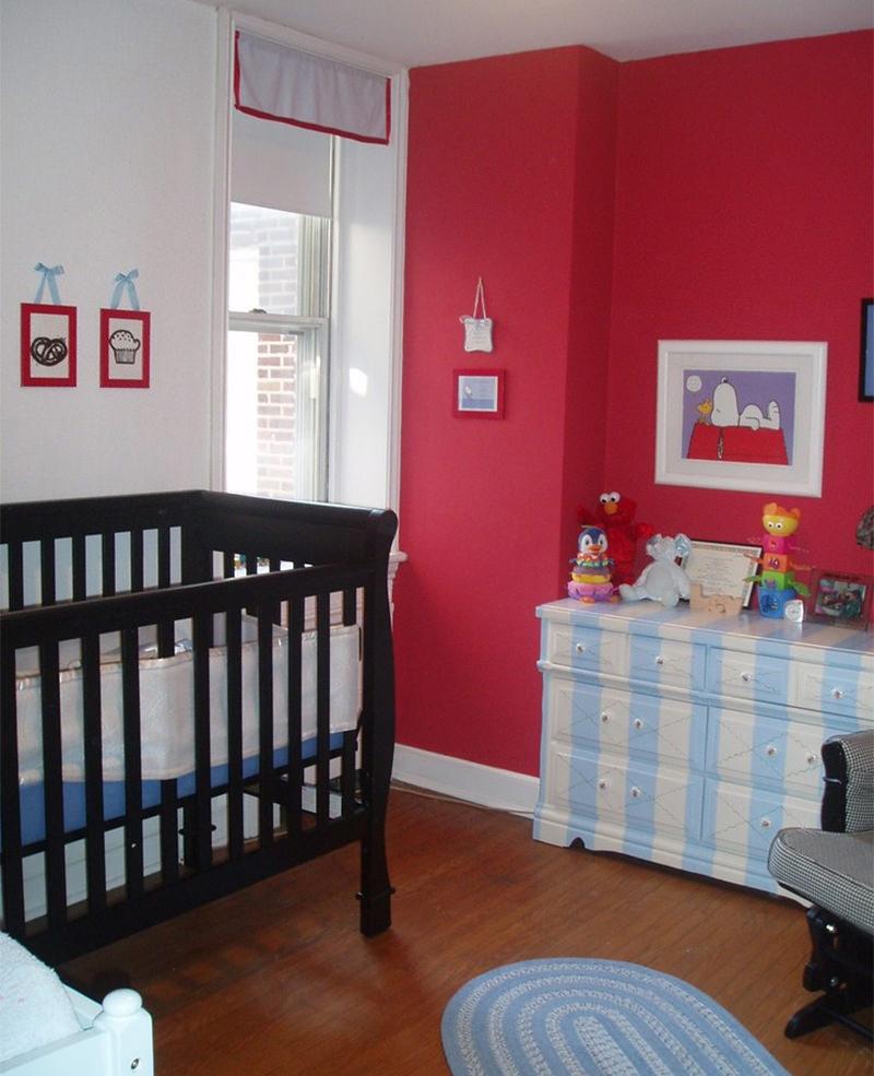 Quarto De Beb Vermelho Charme E Sofistica O Mais De 900  ~ Quarto Azul Marinho E Branco E Montar O Quarto Do Bebe