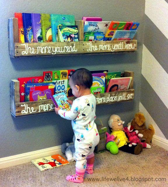 quarto de bebê com pallets