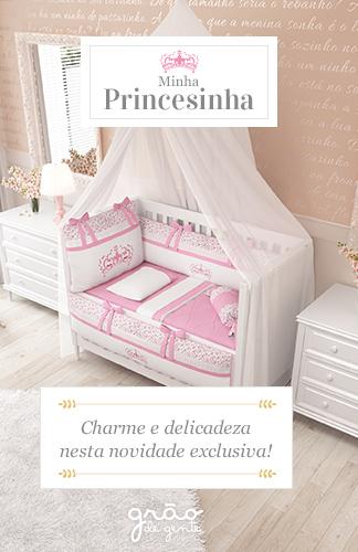 Minha Princesinha - Charme e delicadeza nesta novidade exclusiva Grão de Gente
