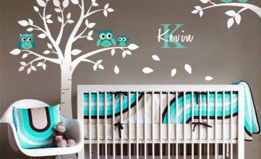 quarto de bebê com corujinhas