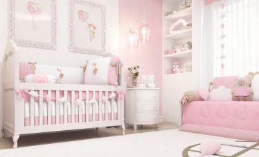 quarto de bebê com tema ursinha