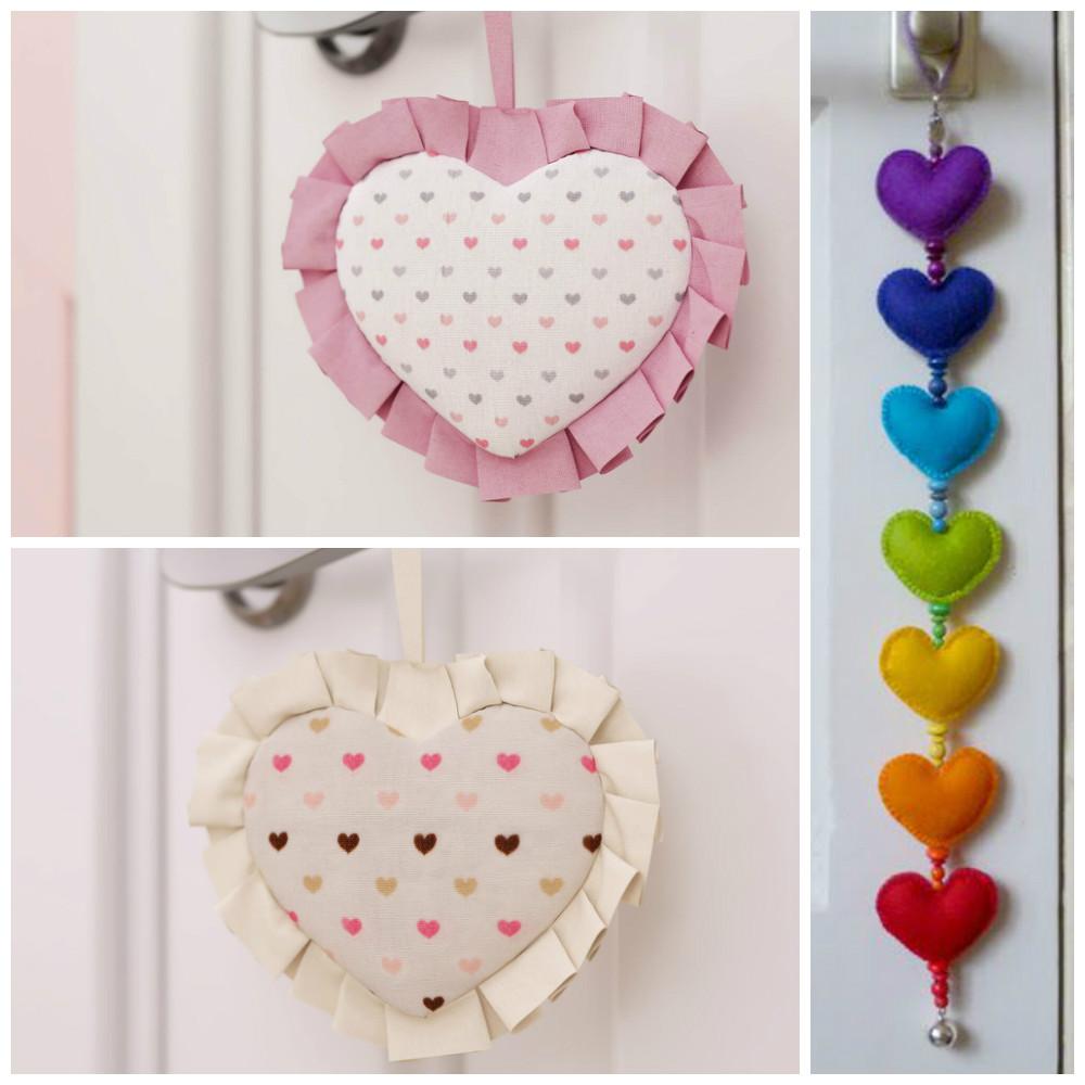 Puxadores de porta em formato de coração