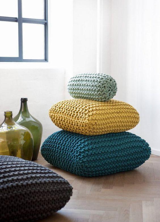 Tricô e Crochê: almofadas
