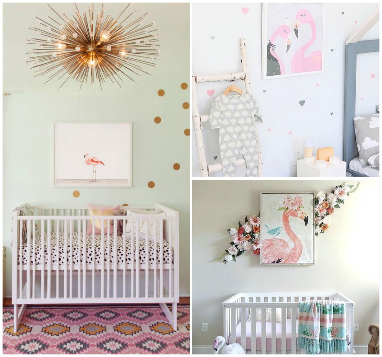 Flamingos Invadem Decora O Para Quartos De Beb Mais De 900  ~ Como Fazer Quadros Decorativos Para Quarto De Bebe