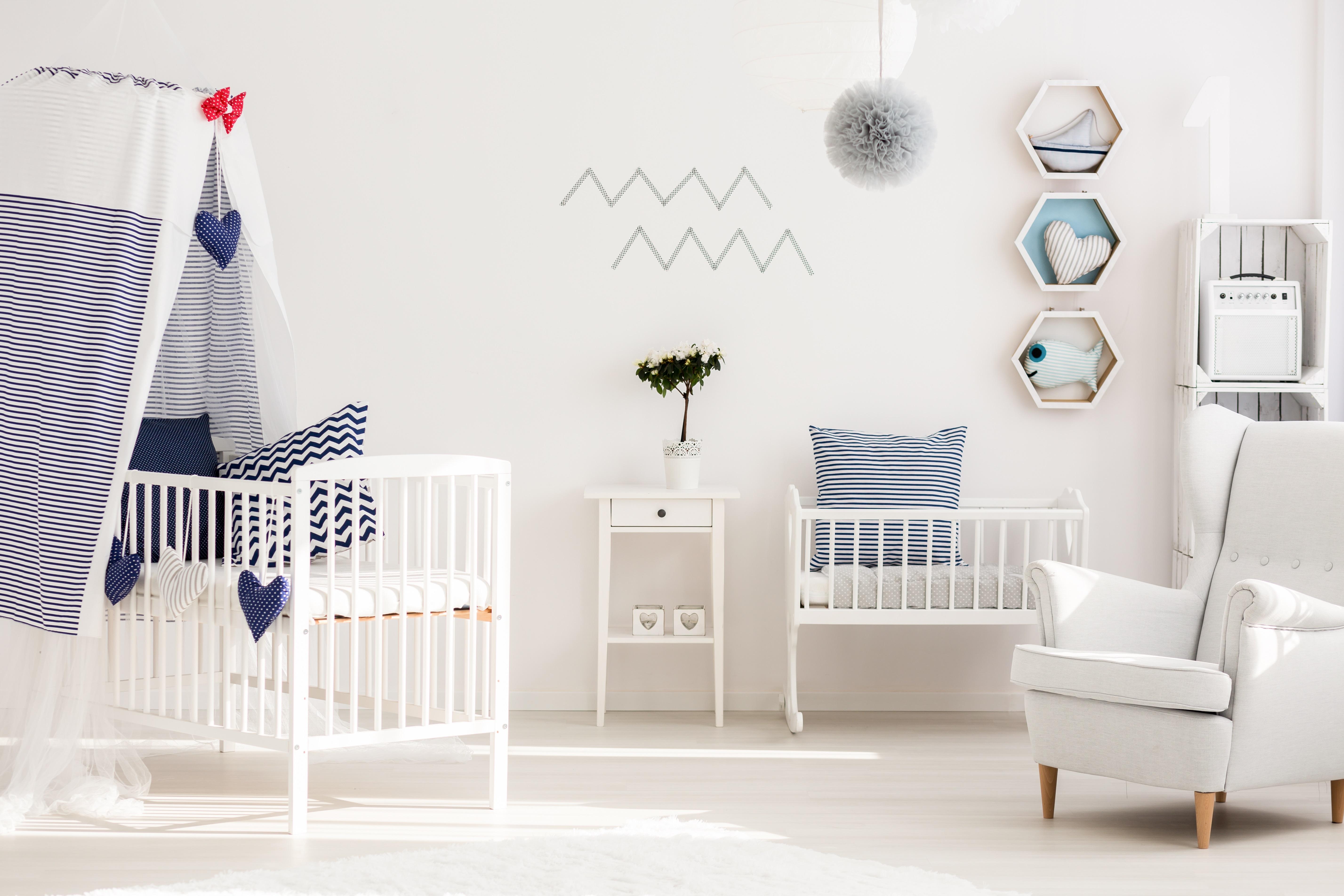 Coração: quarto de bebê para menino
