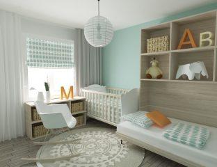 quarto de bebê verde menta