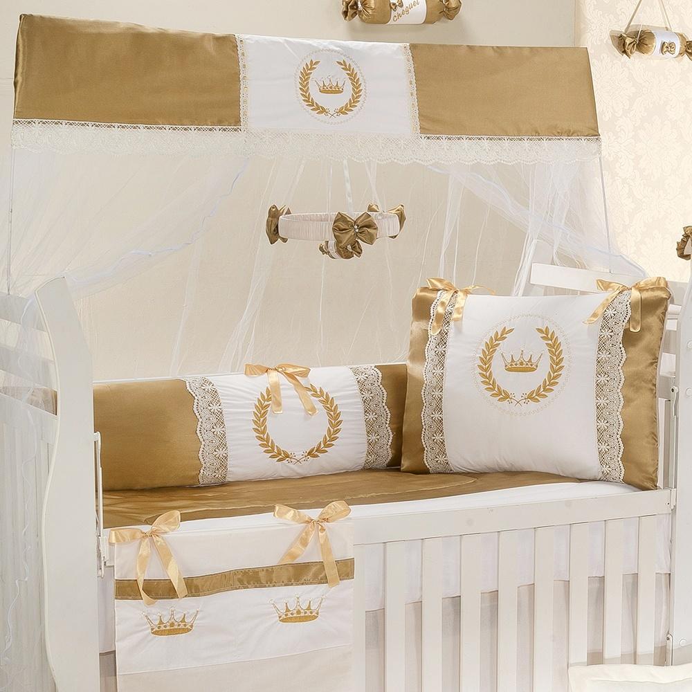 A Sofistica O Incompar Vel Do Quarto De Beb Dourado Mais De  ~ Quarto Lilás E Branco Com Quarto Neutro Para Bebe
