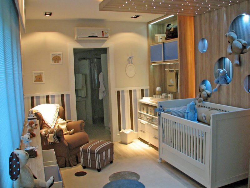 quarto de bebê com fibra ótica