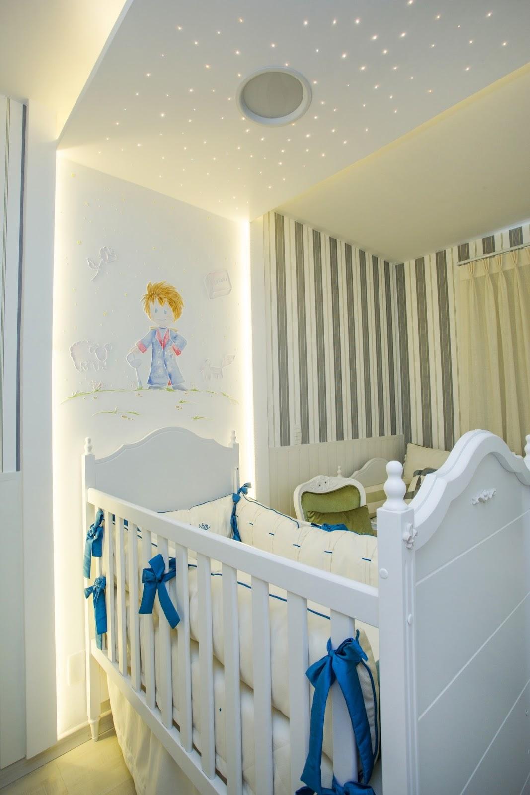 Quarto De Beb Com Fibra Tica Ilumina O Decorativa ~ Decoração De Quarto Com Luzes E Quarto Simples Para Bebe