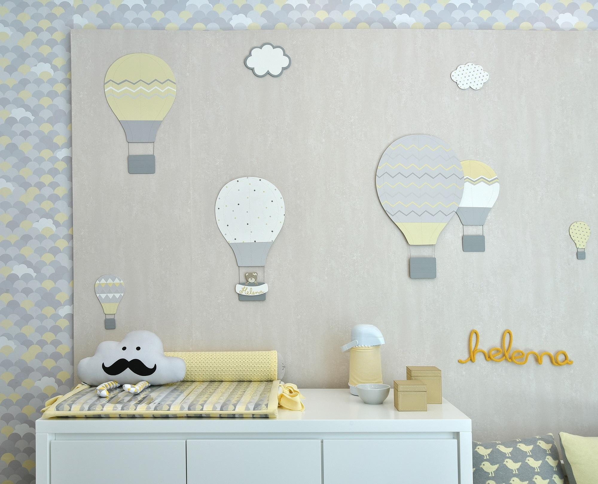 Adesivo Para Parede De Balão ~ Quarto de beb u00ea com balões 8 dicas para a decoraç u00e3o