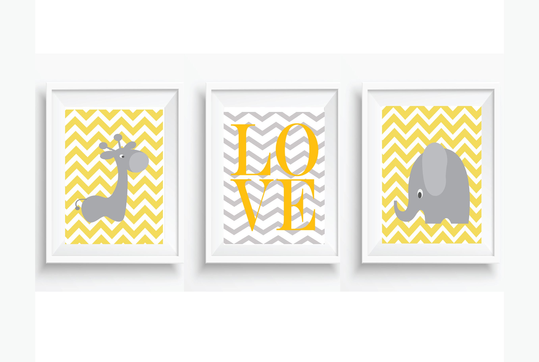 Quarto De Beb Com Girafas 10 Ideias Para A Decora O ~ Quarto De Bebe Parede Com Poster Decoração Quarto