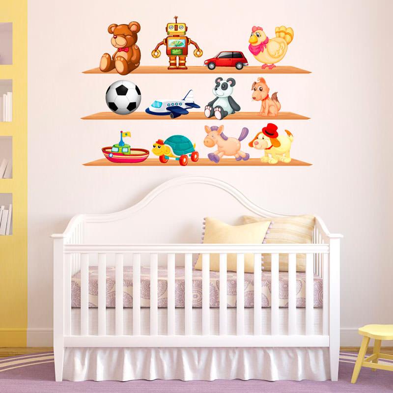 adesivos no quarto do bebê