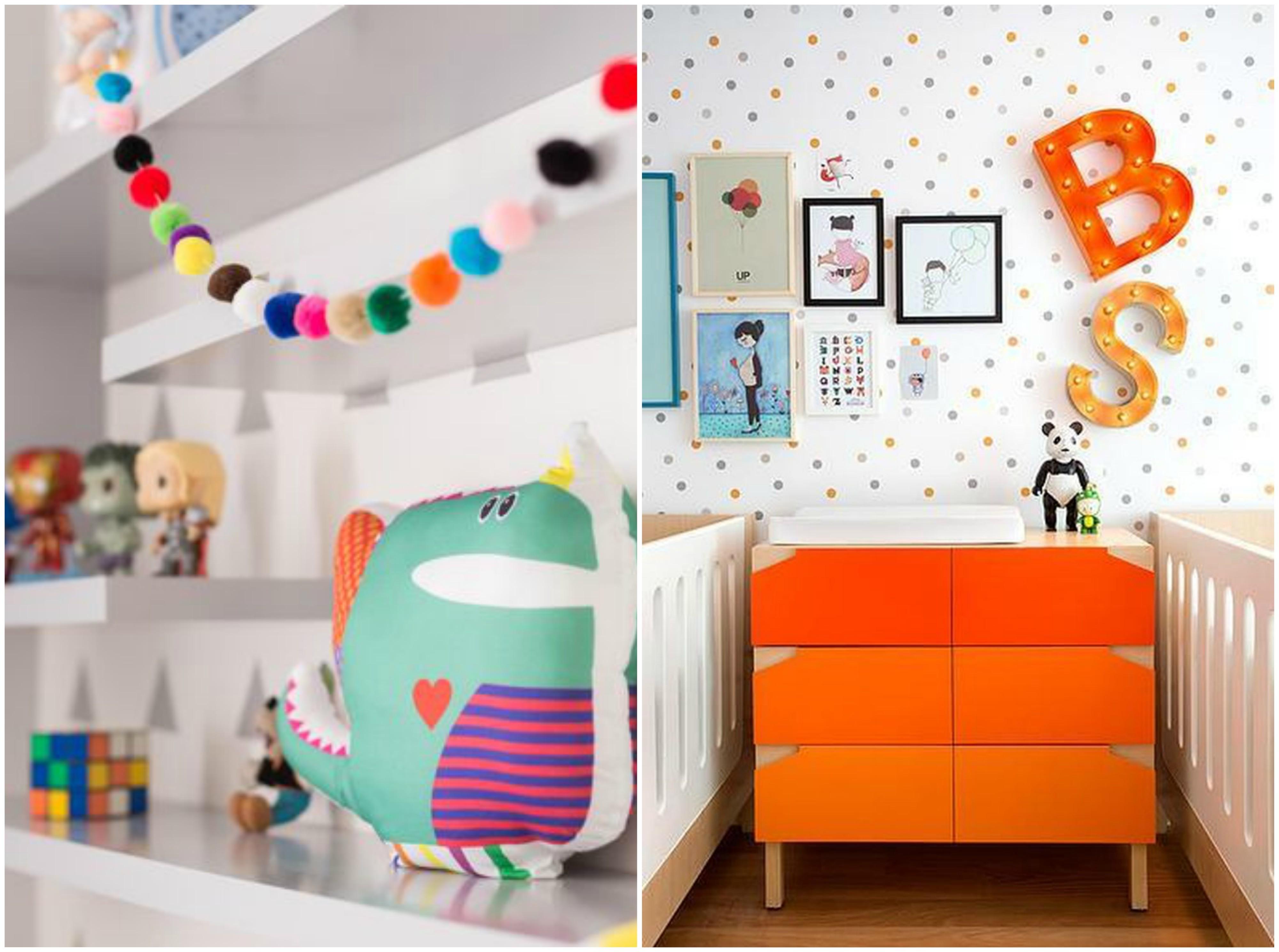 Quarto De Beb Divertido 10 Ideias Para Animar A Decora O ~ Customização De Objetos Decorativos Para Quarto