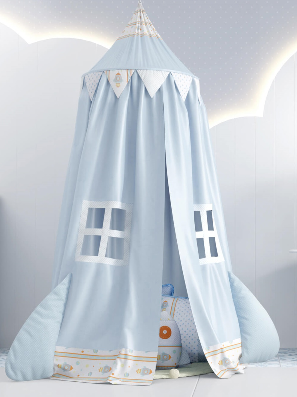 quarto de bebê astronauta