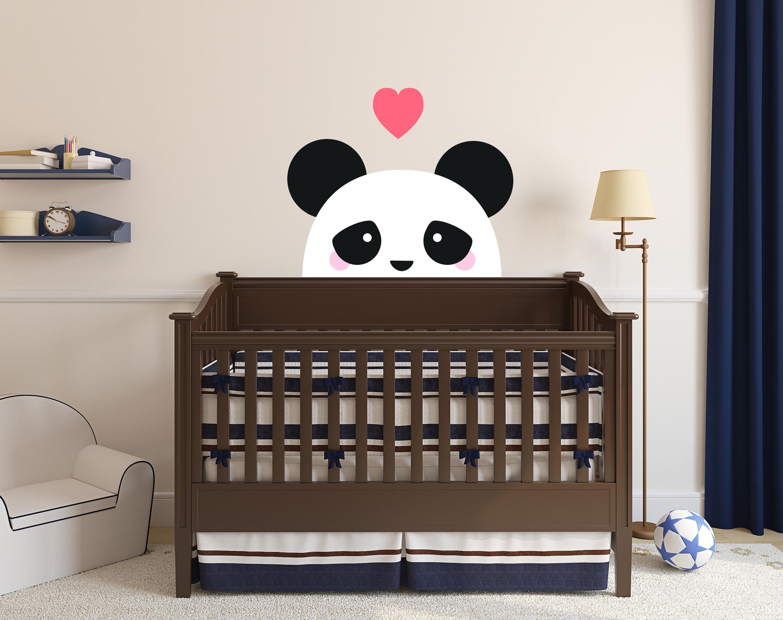 quarto de bebê panda