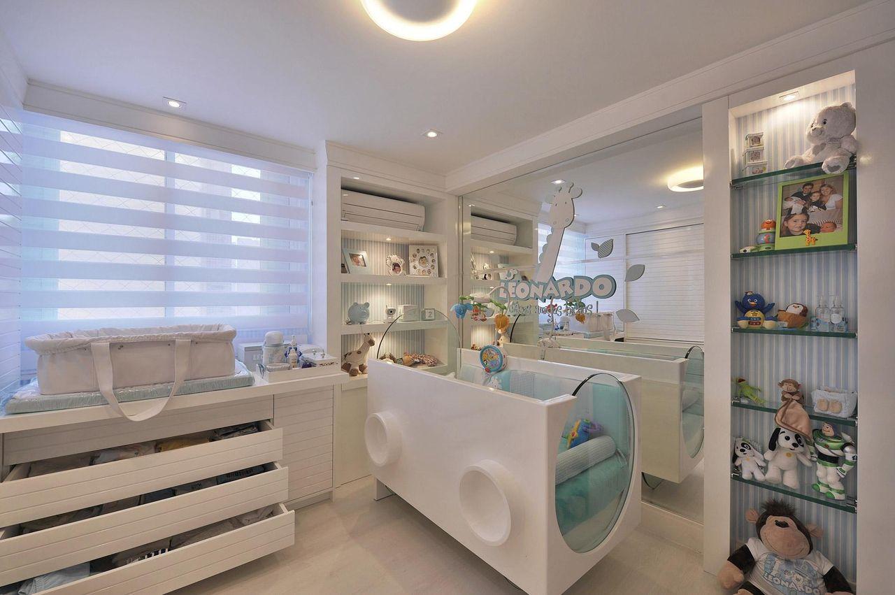 espelhos no quarto de bebê