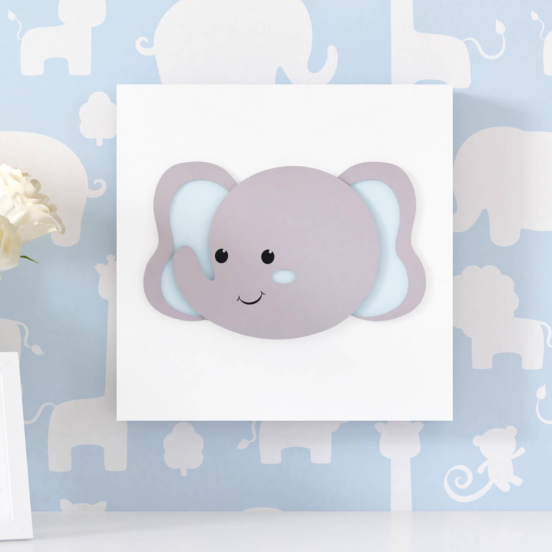 quarto de bebê com elefantes