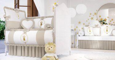 quarto de bebê bege
