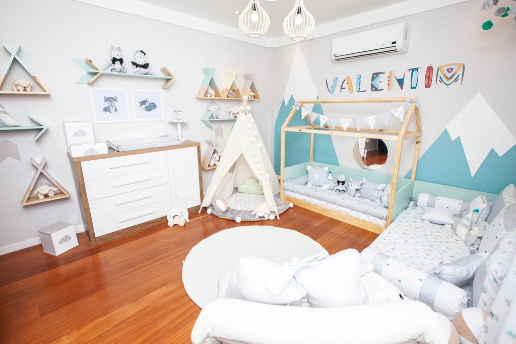 decoração das paredes no quarto de bebê