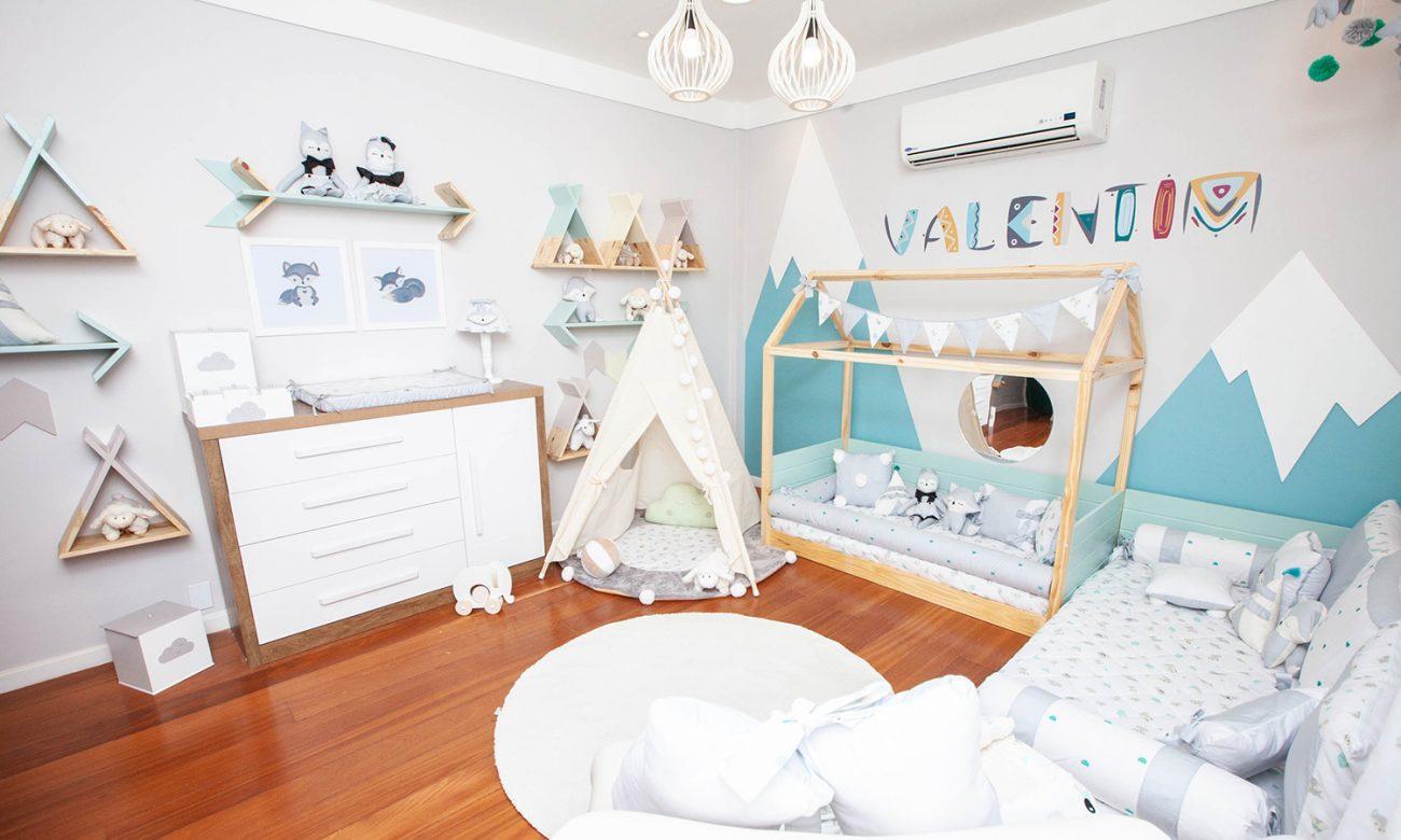 decoração da parede no quarto de bebê
