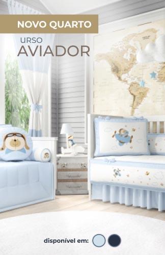 Coleção Urso Aviador Azul Bebê